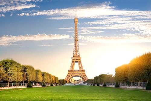 Tour Eiffel et pelouse